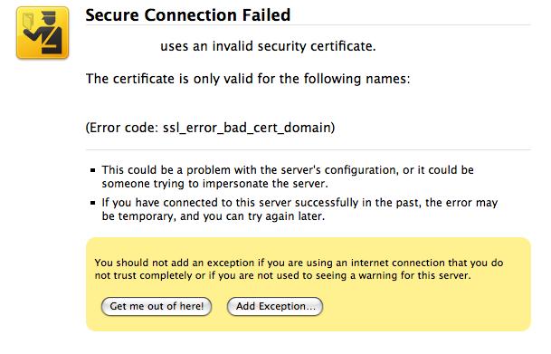 Firefox 3 Certificate Errors